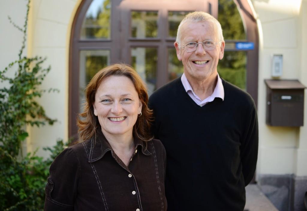 Sjefredaktør Anne Marit Godal og  styreleder Trond Andreassen